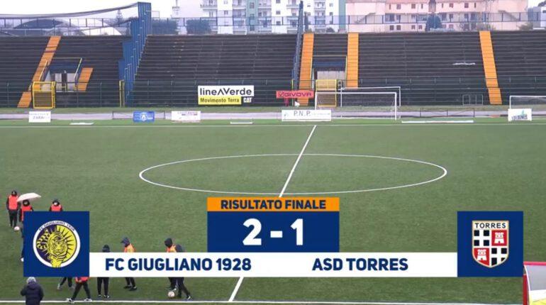 Serie D, Giugliano-Torres: 2-1. Orefice torna al gol e inizia nel migliore dei modi l'era Palma