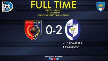 Serie D, Afragolese-Carbonia: 0-2. Cambia il tecnico ma non la musica per i rossoblu