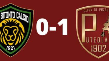 Serie D - Bitonto-Puteolana: 0-1. Scalzone sbaglia, Romano salva e Romeo la risolve